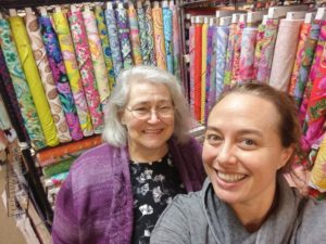 With Janet at Thread Bear Fabrics
