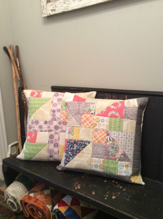 Scrappy Quillows by Velda at Freckled Fox Quiltery